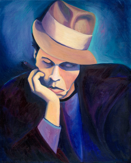 Tom in Hat by Nina Vox oil on canvas 2002